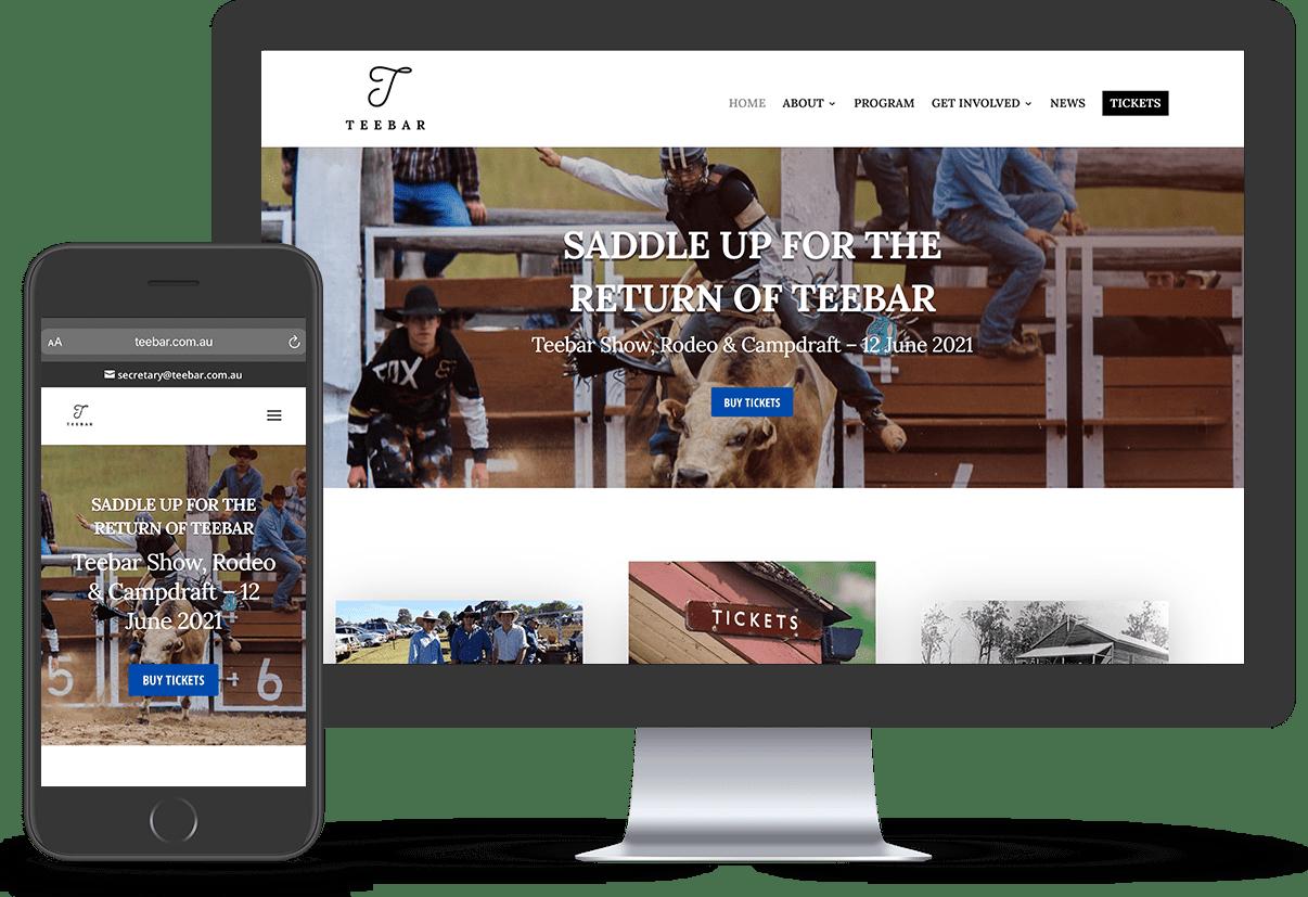 Latest Web Design Work, Teebar